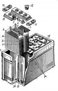 Устройство аккумуляторной батареи